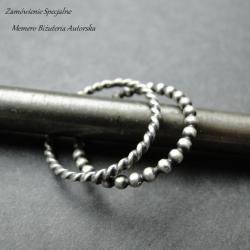 srebro,zestaw,oksydowane - Pierścionki - Biżuteria