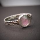 Pierścionki srebrny pierścionek z turmalinem
