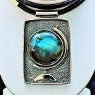 Naszyjniki naszyjnik z labradorytem,srebro,biżuteria,labrador