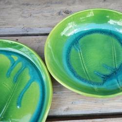 ceramika,patera,talerz,misa,liść ceramiczny - Ceramika i szkło - Wyposażenie wnętrz