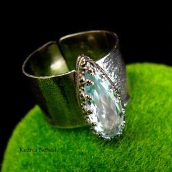 nehesi,pierścionek,srebrny,pierscionek,topazem - Pierścionki - Biżuteria
