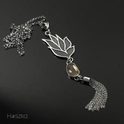 srebro,cytryn,chwost z cytrynem,wisior,żółty - Wisiory - Biżuteria
