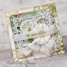 Kartki okolicznościowe kwiaty,koronka,ślub,kartka ślubna