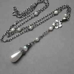 delikatny,perłowy,romantyczny - Naszyjniki - Biżuteria