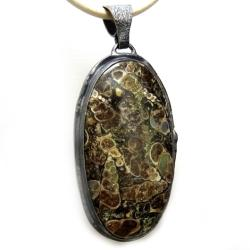 turtella,srebrny,szary,unikat,pejzażowy,srebro, - Wisiory - Biżuteria