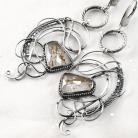 Kolczyki srebrne,kolczyki,wire-wrapping,kwarc,rutylowy,ciba