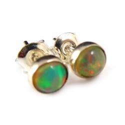 opale,blask,czerwień,złociste,srebrne,delikatne, - Kolczyki - Biżuteria