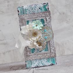 ślub,bukiet,ramka,kwiaty - Kartki okolicznościowe - Akcesoria