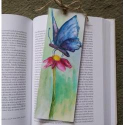 zakładka,motyl,kwiatek - Zakładki do książek - Akcesoria