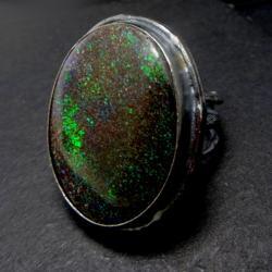 matrix,srebrny,oksyda,barwny,blask,kosmos,opal - Pierścionki - Biżuteria