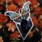 Wisiory emaliowany wisior z motylem,naszyjnik z ceramiką