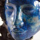 Ceramika i szkło maska,raku,ceramika,krakle,