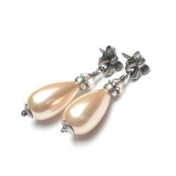 eleganckie,perłowe,kokardy - Kolczyki - Biżuteria