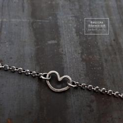 srebro,serce,surowe,minimalizm - Bransoletki - Biżuteria