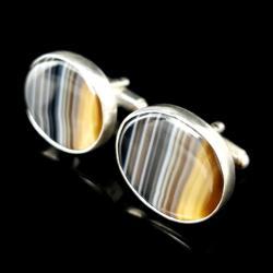 agaty,spinki,srebrne,męskie,oryginalne,srebro,styl - Dla mężczyzn - Biżuteria