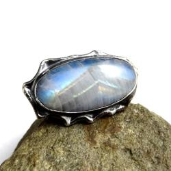 księżycowy,blask,srebrny,szarości,błękitny,złoty - Pierścionki - Biżuteria