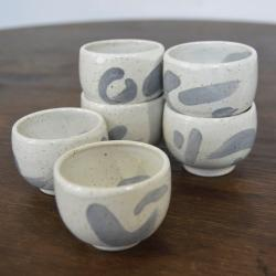 czarka,ceramika,kamionka,zestaw czarek - Ceramika i szkło - Wyposażenie wnętrz