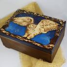 Pudełka sowa,pirografia