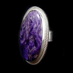 czaroit,blask,fiolet,srebrny,srebro,klasyczny,retr - Pierścionki - Biżuteria