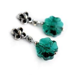 kolczyki czterolistne koniczynki male - Kolczyki - Biżuteria
