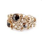 black treassure... złoty pierścionek z diamentami