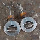 Kolczyki srebrne kolczyki z bursztynem