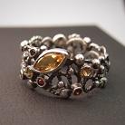 Pierścionki srebrny koronkowy pierścionek
