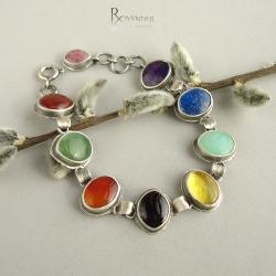 kolorowa bransoleta,lato,barwy lata - Bransoletki - Biżuteria