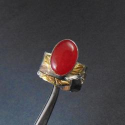 pierścionek srebrny z jaspisem - Pierścionki - Biżuteria