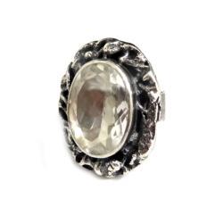 kryształ,retro,srebrny,unikat,królewski,retro - Pierścionki - Biżuteria