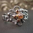 Pierścionki pierścionek z brązowym diamentem