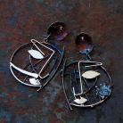 Kolczyki długie kolczyki,metaloplatyka,ręcznie robione