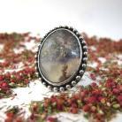 Pierścionki Niezwykły pierścionek z agatem indyjskim,agat