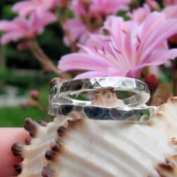 obraczki,industrialne,młotkowane - Inne - Biżuteria