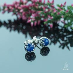 lapis lazuli,koronkowe,eleganckie,retro - Kolczyki - Biżuteria