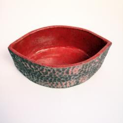 osłonka,misa ceramiczna,raku,misa - Ceramika i szkło - Wyposażenie wnętrz