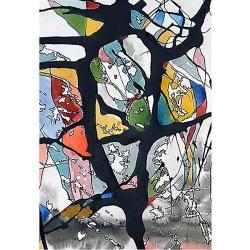 abstrakcja,kolory,na ścianę,obraz,ilustracja,tusz, - Ilustracje, rysunki, fotografia - Wyposażenie wnętrz