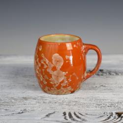 pomarańczowy kubek ceramiczny,porcelana - Ceramika i szkło - Wyposażenie wnętrz