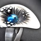 Pierścionki tytanowy pierścionek regulowany,srebro i tytan
