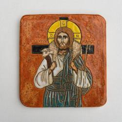 Beata Kmieć,ikona ceramiczna,Chrystus - Ceramika i szkło - Wyposażenie wnętrz