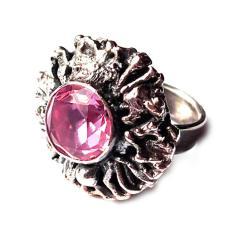 aleksandryt,blask,wiosenny,surowy,srebrny,różowy - Pierścionki - Biżuteria
