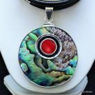 Naszyjniki naszyjnik z muszlą,srebro,biżuteria,naszyjniki