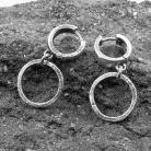 Kolczyki kolczyki srebrne,oksydowane,kolczyki koła