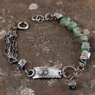 Bransoletki bransoleta ze srebra i szmaragdów