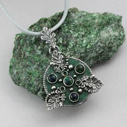 triskel,opale,liście dębu,celtycki,amulet - Wisiory - Biżuteria