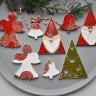 Ceramika i szkło ozdoby świąteczne hand made,ozdoby choinkowe