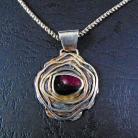 Wisiory wisior srebrny z turmalinem