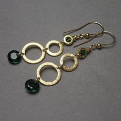 długie,delikatne,koła,geometryczne - Kolczyki - Biżuteria