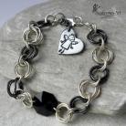 Bransoletki bransoleta,anioł,elegancka,swarovski,srebro