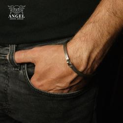surowa biżuteria męska,minimalistyczna bransoleta - Dla mężczyzn - Biżuteria